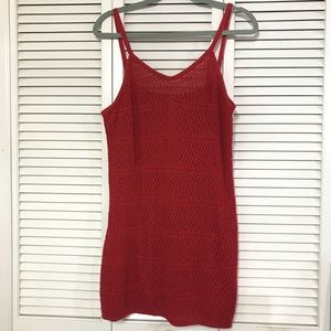 Lane Bryant Red Knit Tank Top